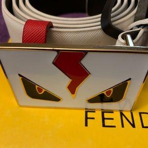 Fendi Belt fits 38 to 42 Waist white new